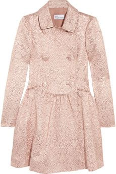 Red Valentino Double-Breasted Brocade Coat