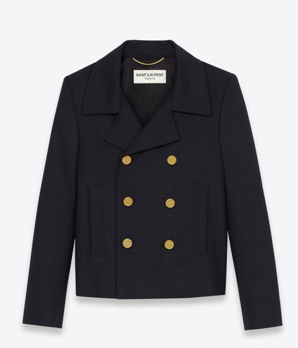 Saint Laurent Double Breasted Caban Jacket
