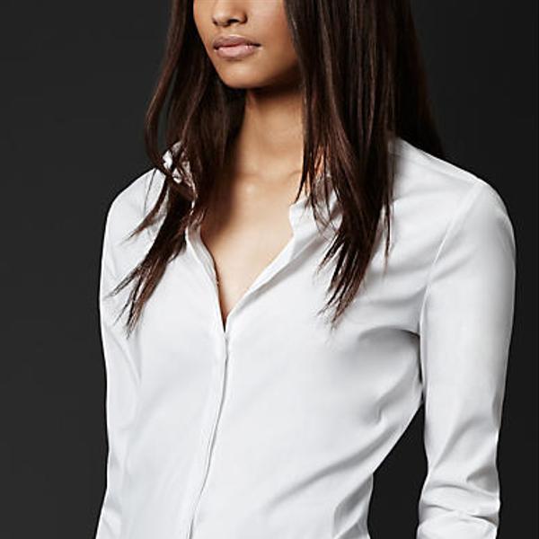 Burberry White Stretch Cotton Shirt