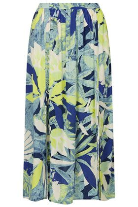 Topshop  Crayon Forest Midi Skirt
