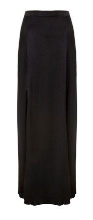 L'Agence  Black Double Slit Skirt