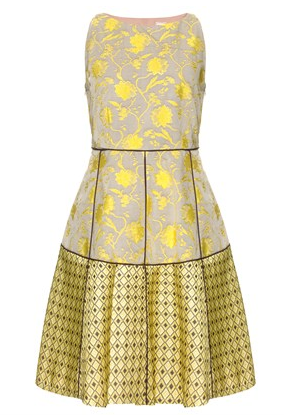 Antonio Marras Yellow Jacquard Dress