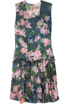 Borne by Elise Berger Hermine Floral-Print Silk Dress
