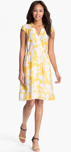 Adrianna Papell Floral Print Shirtdress