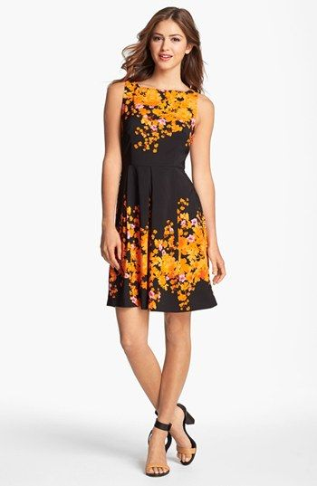 LABEL by five twelve Floral Print Fit & Flare Dress