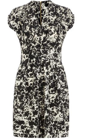 Dorothy Perkins Black/White Floral Dress