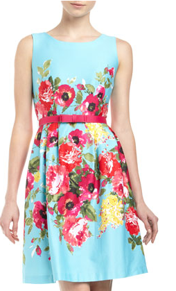 Chetta B Floral Bow Dress