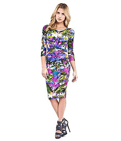 Nicole Miller Floral-Print Dress