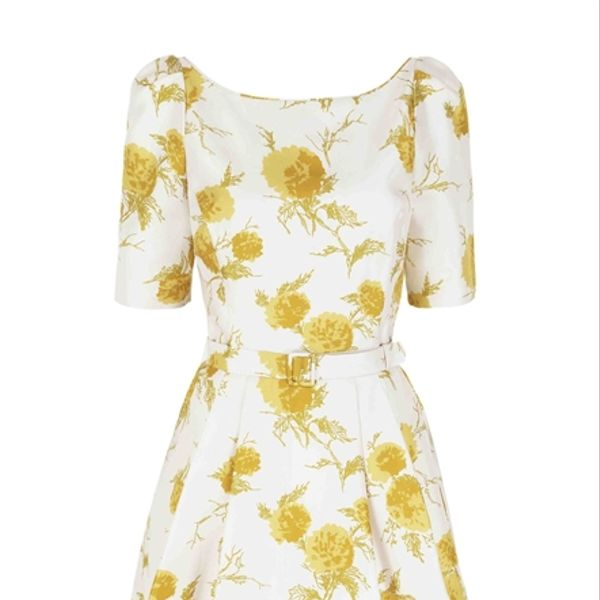 Suzannah Fifties Oriental Bloom Silk Print Dress