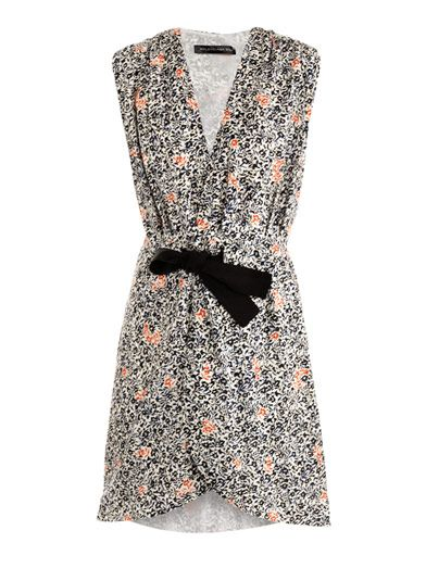 Balenciaga Fleurs-Print Wrap Dress
