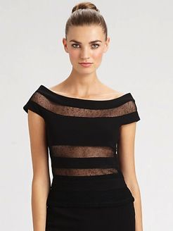 Jean Paul Gaultier  Sheer Stripe Top