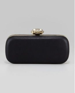 House of Harlow 1960  Addison Distressed Leather Clutch Bag