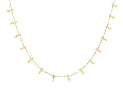 Jennifer Meyer  Cross Bar Chain Necklace
