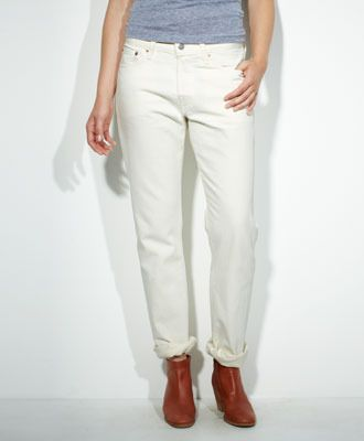 Levi's 501 Jeans for Women in White Pigment
