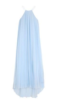 Tibi Pleated Silk Chiffon Dress