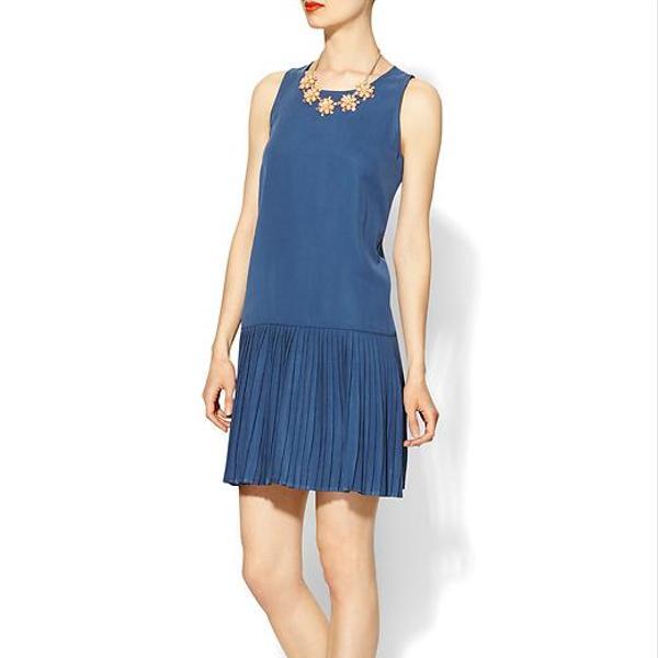 Pim + Larkin Drop Waist Sueded Dress