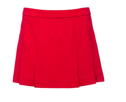 Miu Miu Cady Pleated Mini Skirt
