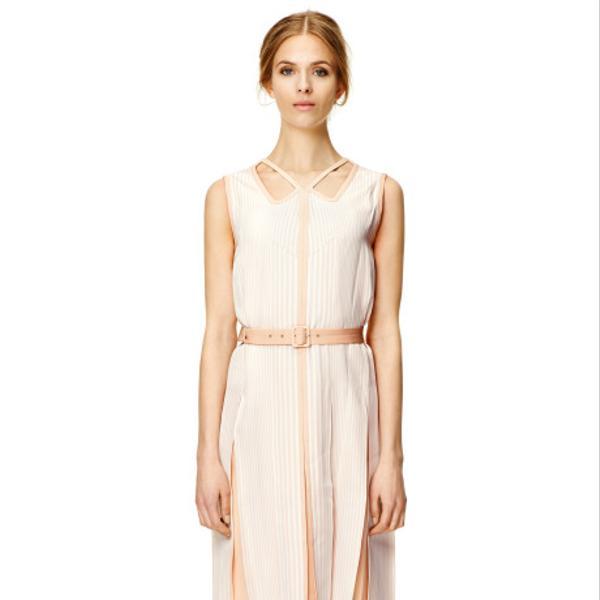 Marc Jacobs Degrade Stripe Slip Cutout Panelled Dress