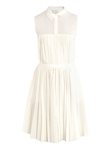 Boy by Band of Outsiders Pleated Cotton Dress
