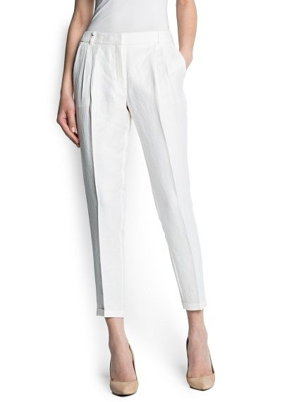 Mango Tailored Tapered Trousers