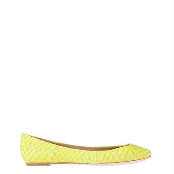 Ann Taylor  Exotic Leather Ballet Flats