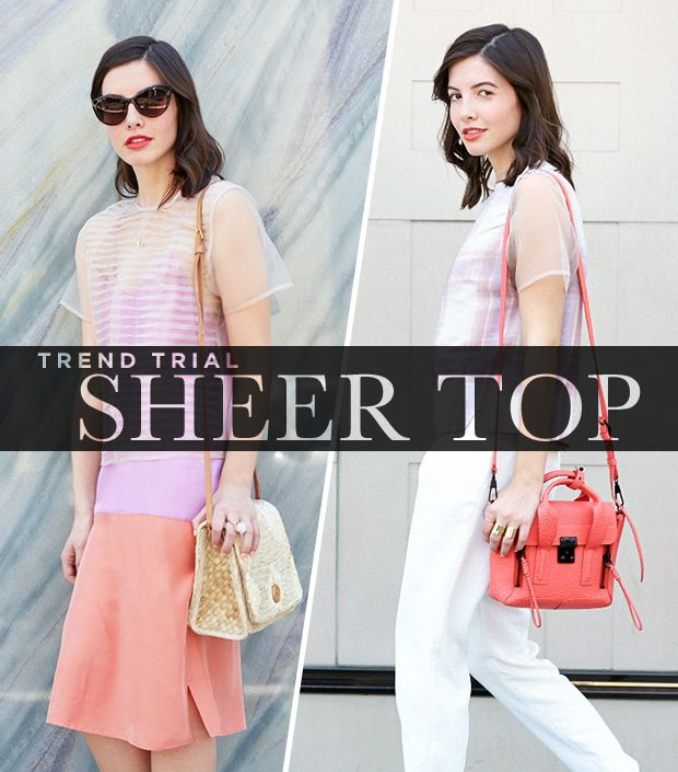 Your Guide To Wearing Sheer Tops The Right Way
