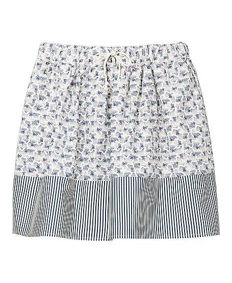 Suno x Uniqlo Short Printed Flare Skirt