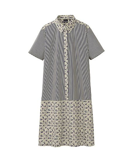 Suno x Uniqlo Printed Shirt Dress