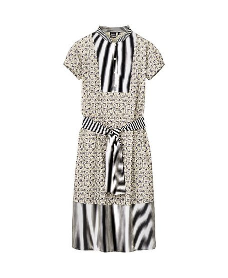 Suno x Uniqlo Printed Short Sleeve Dress with Belt
