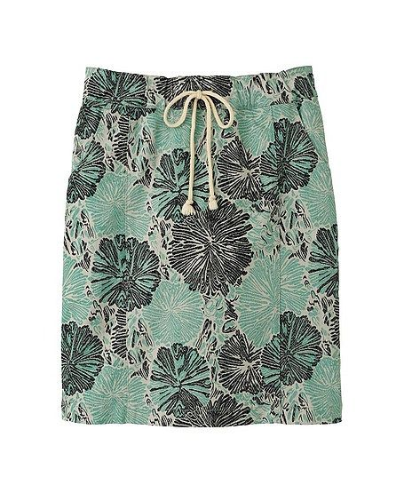 Suno x Uniqlo Green Printed Skirt
