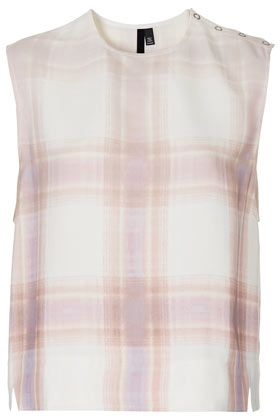 Topshop Check Tank Top by Boutique