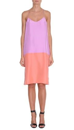 Tibi Silk Color Block Cami Dress