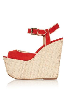 Robert Clergerie  Raffia and Leather Wooden Sandals