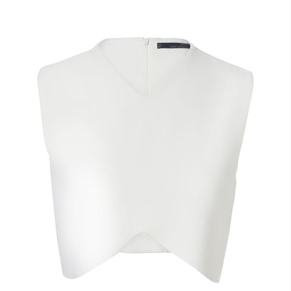 Zara  Studio Cropped Sleeveless Top