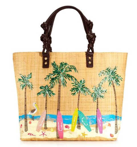 Juicy Couture Surf Board Raffia Tote