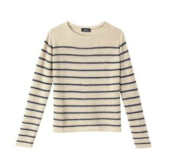 A.P.C.  Striped Sailor Top in Boucl+ Linen