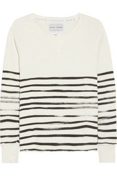 Each x Other  Striped Cotton-Terry Sweatshirt