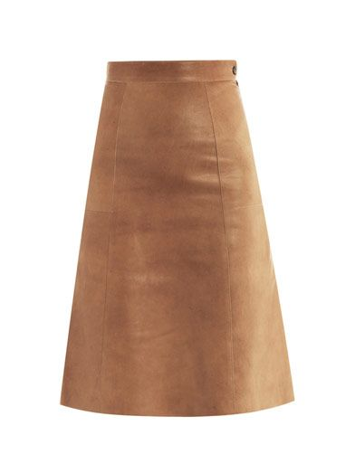 Vanessa Bruno  Leather Midi Skirt