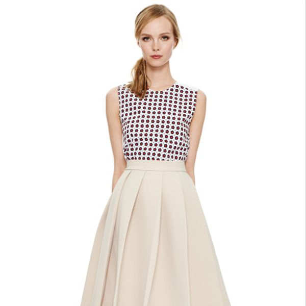 J.W. Anderson  Beige Ten Pleat Skirt