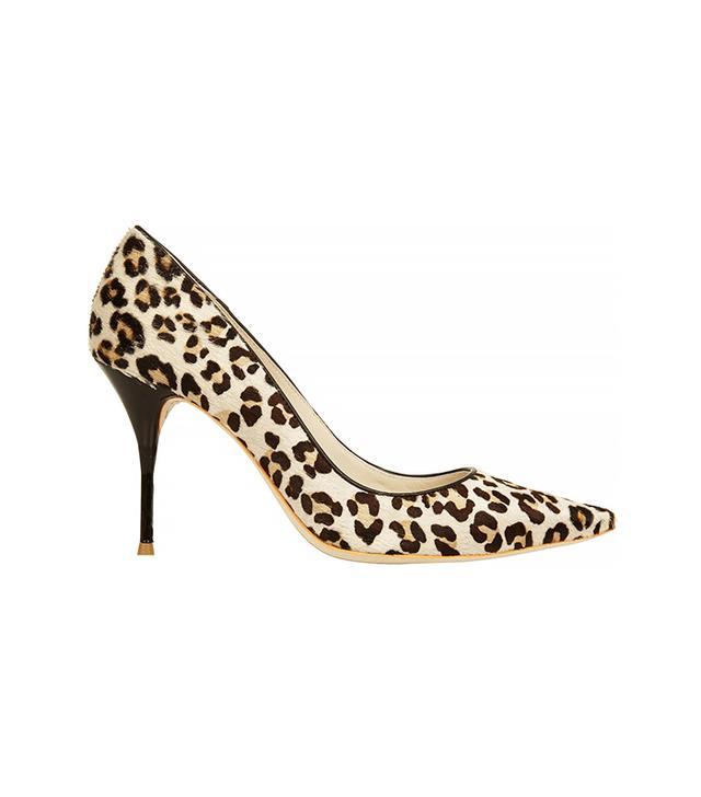 Sophia Webster Lola Leopard-Print Calf Hair Pumps