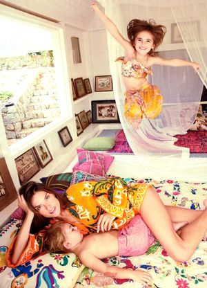 Alessandra Ambrosio And Her Kids Star In This Adorable Spread
