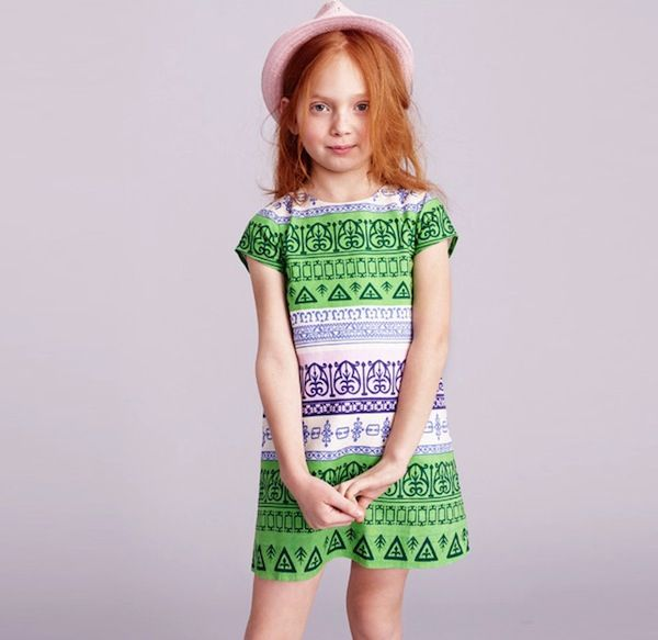 J.Crew Girls' Hieroglyphic Shift Dress