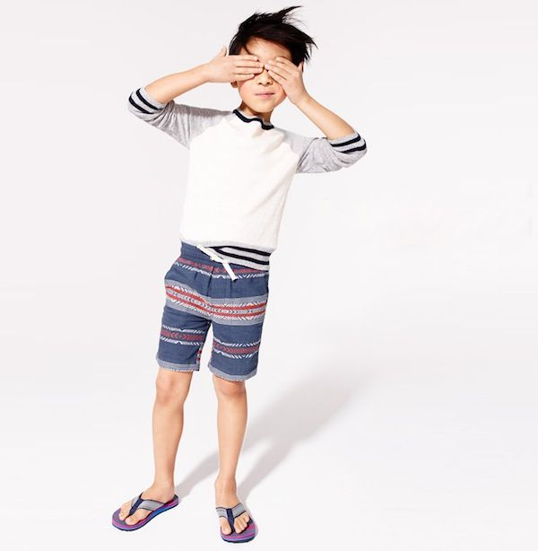 J.Crew Boys' Pull-On Short in Embroidered Southwest Stripe