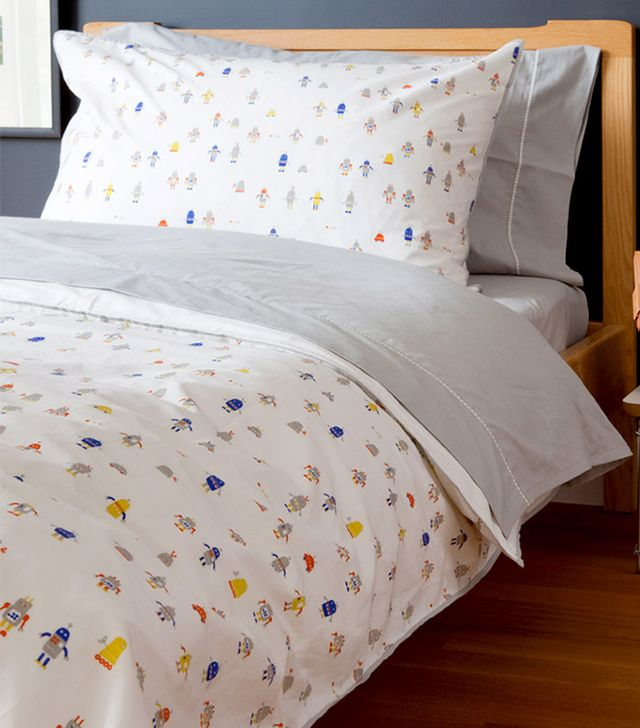 Auggie Robot March Twin Duvet Cover