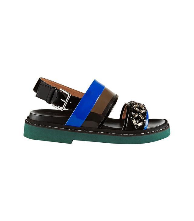 Marni Crystal-Embellished PVC Sandals