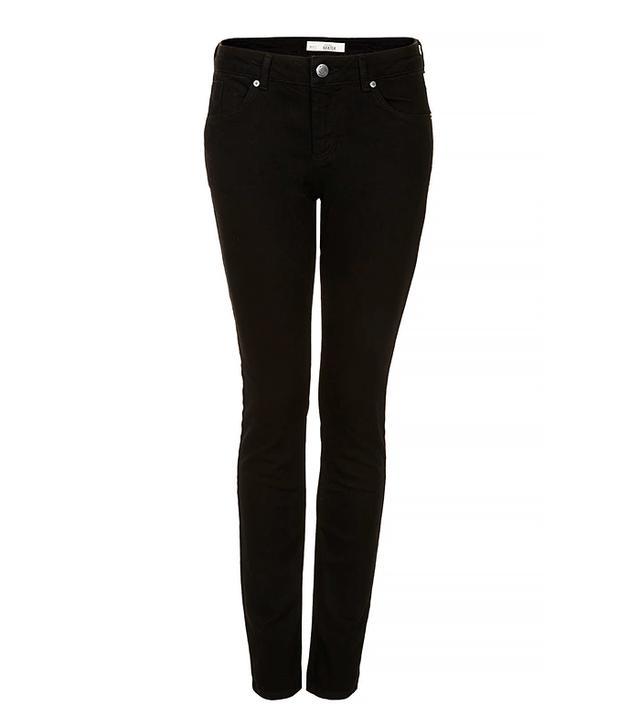 Topshop Moto Baxter Jeans in Black