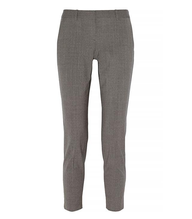 Theory Testra Stretch-Wool Straight-Leg Pants