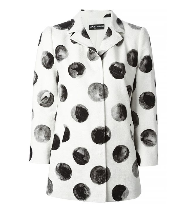 Dolce & Gabbana Polka Dot Coat