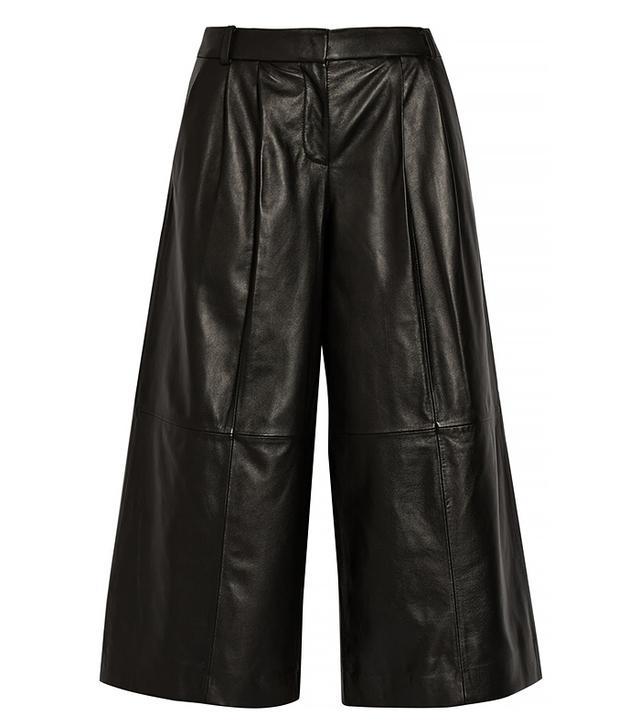 Tibi Pleated Leather Culottes