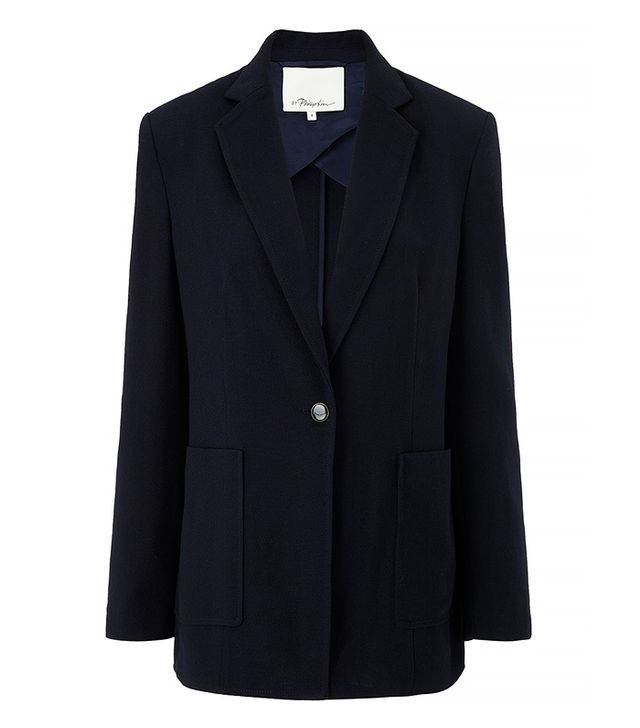 3.1 Phillip Lim Navy Wool Single Button Blazer
